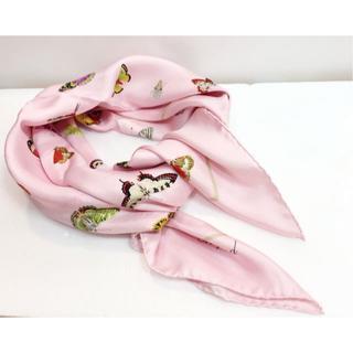 ショパール(Chopard)のショパール シルクスカーフ 蝶 18587924(バンダナ/スカーフ)