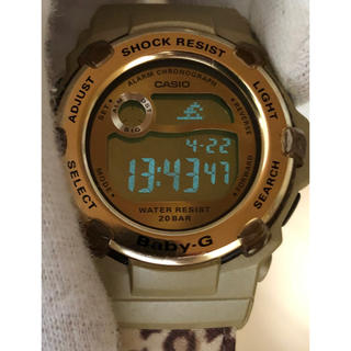 ベビージー(Baby-G)のbaby-G-SHOCK/BG-3000V/レオパード/ヒョウ柄/ゴールド/良品(腕時計)