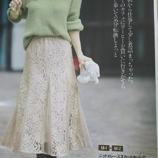 アプワイザーリッシェ(Apuweiser-riche)のアプワイザー 今期レーススカート(ひざ丈スカート)