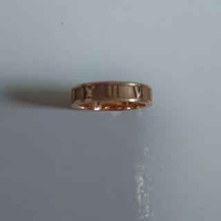 ティファニー(Tiffany & Co.)の希少 美品ティファニーアトラスピンクゴールド約6.5号(リング(指輪))