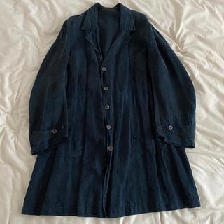ネストローブ(nest Robe)の専用出品 1920's indigo linen maquigon coat(ステンカラーコート)