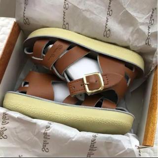 コドモビームス(こどもビームス)の新品未使用 ソルトウォーター サンダル 7 ベルクロタイプ 箱付き(サンダル)