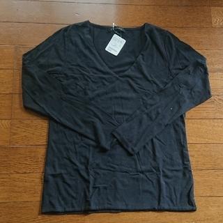 ユナイテッドアローズ(UNITED ARROWS)の【新品】UNITED ARROWS 黒 Tシャツ(Tシャツ(長袖/七分))