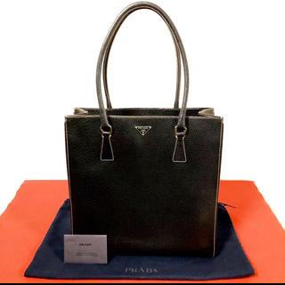 プラダ(PRADA)のほぼ 未使用 極 美品 保存袋付き プラダ レザー ビジネスバッグ トートバッグ(トートバッグ)