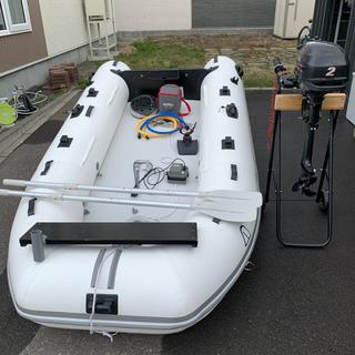 アキレス(Achilles)の2馬力ボート 船外機 魚探 セット(その他)