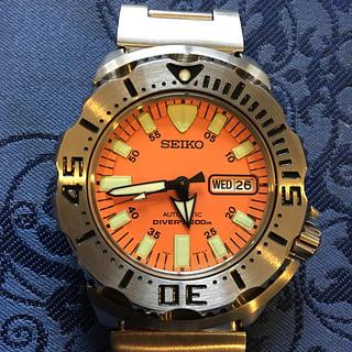 セイコー(SEIKO)のセイコー自動巻きダイバー200m通称オレンジモンスター未使用に近い極美品(腕時計(アナログ))