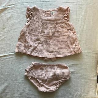 ザラホーム(ZARA HOME)のあさこ様専用✳︎zarahome✳︎ベビー服 セットアップ  70cm ピンク(その他)