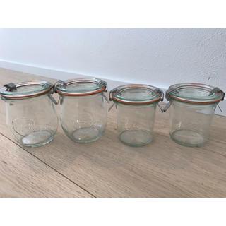 イッタラ(iittala)のWECK ガラスキャニスター チューリップ、モールドシェイプ4個セット(容器)