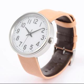 ムジルシリョウヒン(MUJI (無印良品))の新品★無印良品★腕時計・公園の時計・大 バンド:ヌメ革 メンズ レディース☆▼(腕時計)