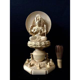 新作 天然木檜材を使用 高30cm 仏教工芸 仏師手仕上げ品 愛染明王座像(彫刻/オブジェ)