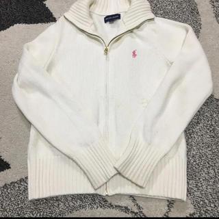 ラルフローレン(Ralph Lauren)のラルフローレン ニットプルオーバー 140 ホワイト(ニット)
