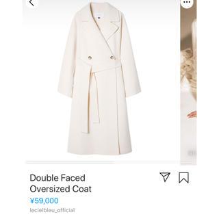 LE CIEL BLEU - LE CIEL BLEU オーバーサイズ コート ホワイト