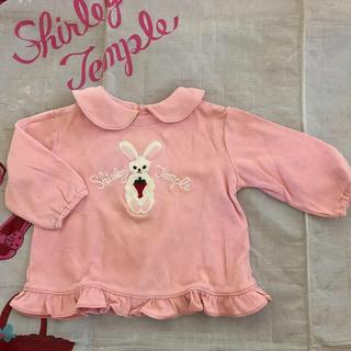 シャーリーテンプル(Shirley Temple)のシャーリーテンプル うさぎ Tシャツ ピンク 70(Tシャツ)