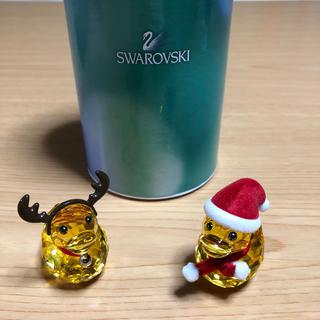 スワロフスキー(SWAROVSKI)のショウ様専用 スワロフスキーハッピーダック サンタ トナカイ 浮き輪 サングラス(ガラス)