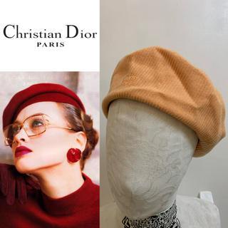 クリスチャンディオール(Christian Dior)のChristian Dior SPORTS PARIS VINTAGE ベレー帽(ハンチング/ベレー帽)