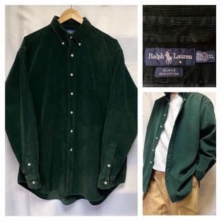 ラルフローレン(Ralph Lauren)の極美品★ラルフローレン コーデュロイ ビッグシルエット シャツ XL 緑(シャツ)