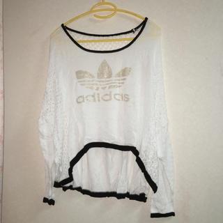 アディダス(adidas)のadidas メッシュトップス(Tシャツ(長袖/七分))