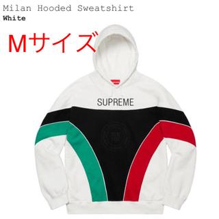 シュプリーム(Supreme)のSupreme Milan Hooded パーカー M 白 評価あり(パーカー)
