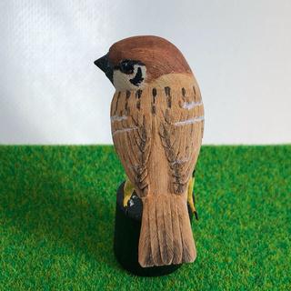 野鳥彫刻 すずめ横向 作者ituo(彫刻/オブジェ)