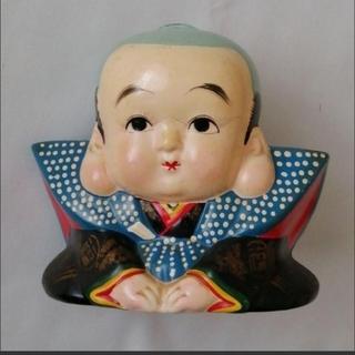 福助人形 福助さん 可愛い 長いまつ毛 レトロ アンティーク(彫刻/オブジェ)