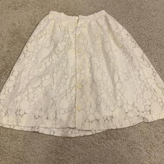 ジョア(Joie (ファッション))の【美品】JOIE 膝丈ホワイトスカート(ひざ丈スカート)