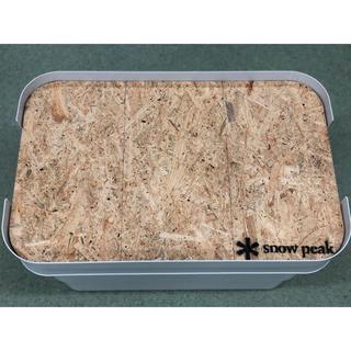 ムジルシリョウヒン(MUJI (無印良品))の無印良品 頑丈収納ボックス用天板【大サイズ】アンティーク&ロゴ入り(テーブル/チェア)