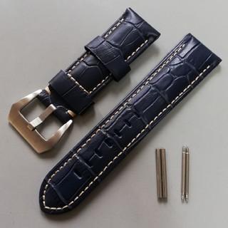 パネライ(PANERAI)の腕時計バンド レザーベルト ラグ幅24mm パネライやアップルウォッチに(レザーベルト)