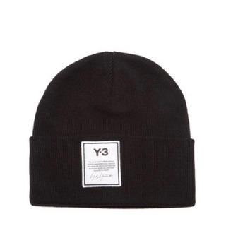 ワイスリー(Y-3)の新品 y-3 ニット帽 ビーニー フリーサイズ ブラック ヨウジヤマモト(ニット帽/ビーニー)