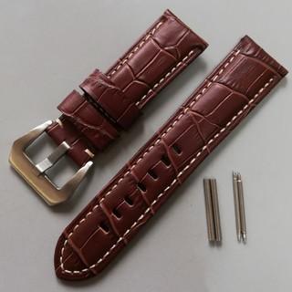 オフィチーネパネライ(OFFICINE PANERAI)の腕時計 レザーベルト 24mm ブラウン パネライやアップルウォッチに!(レザーベルト)