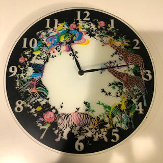 フランフラン(Francfranc)のFranc franc フランフラン  ガラス製 アニマル 掛け時計(掛時計/柱時計)
