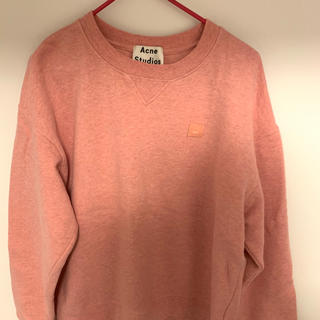 アクネ(ACNE)のACNE studiosアクネオーバーサイズのスウェットシャツ  ピンクxs(シャツ/ブラウス(長袖/七分))