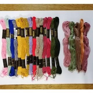 オリンパス(OLYMPUS)の刺繍糸 OLYMPUS★20本 20色セット  オリムパス 25番 刺しゅう糸 (生地/糸)