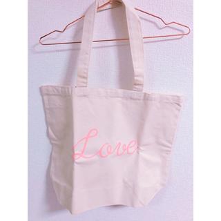 ドットアンドストライプスチャイルドウーマン(Dot&Stripes CHILDWOMAN)のDot&Stripes LOVEプリント キャンバスbag(トートバッグ)