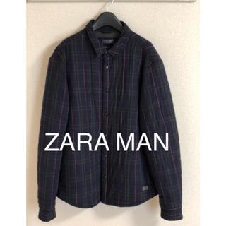 ザラ(ZARA)のZARA メンズ ジャケット ネイビー チェック(その他)