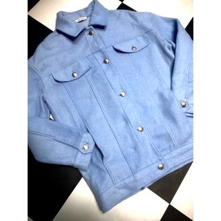 ザラ(ZARA)のZARA baby blue コート(チェスターコート)