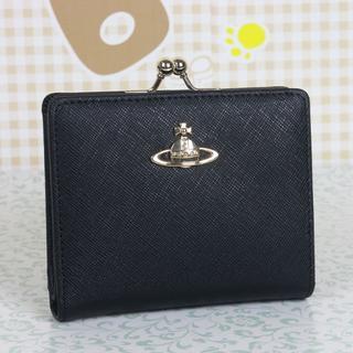 ヴィヴィアンウエストウッド(Vivienne Westwood)のヴィヴィアンウエストウッド 折財布 がま口財布 ブラック(財布)
