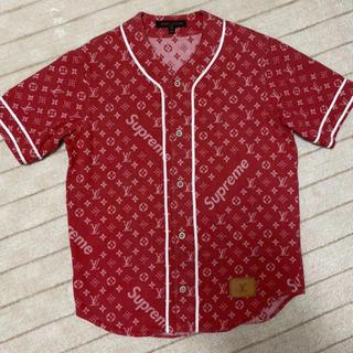 シュプリーム(Supreme)のSupreme×LOUISVUITTON 日本80着限定 ベースボールシャツ(シャツ)