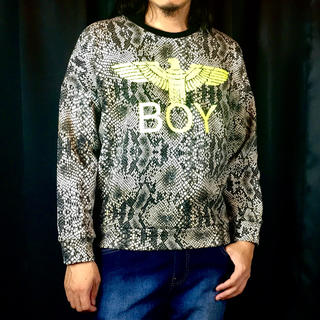 ボーイロンドン(Boy London)の新品 BOY LONDON ボーイ ロンドン スネーク 蛇柄 ロゴ スウェット(スウェット)