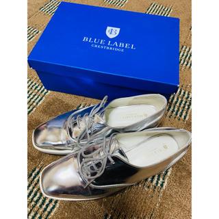 バーバリーブルーレーベル(BURBERRY BLUE LABEL)のブルーレーベルクレストブリッジ レースアップシューズ(ローファー/革靴)