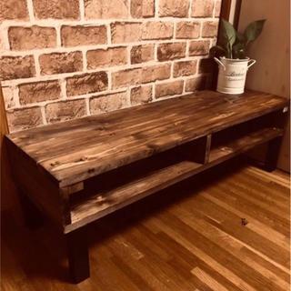 アンティークシンプル木目調テーブル 新品未使用(ローテーブル)