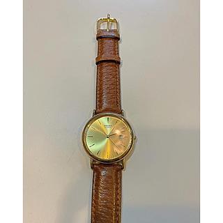 セイコー(SEIKO)のSEIKO金色茶ベルト時計(ラバーベルト)