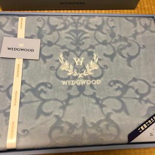 ウェッジウッド(WEDGWOOD)のウェッジウッド★綿毛布★ブルー★新品(毛布)
