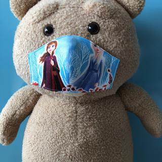 3〜5歳用 アナと雪の女王密着型インナーマスク🆕 【ハンドメイド】190(外出用品)