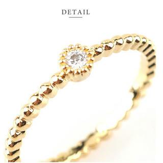 一粒 シンプル リング 指輪 イエローゴールド(リング(指輪))