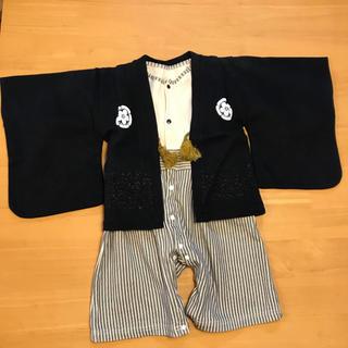 ベルメゾン(ベルメゾン)の【 送料込み ☆】 紋付袴 ★ 紋付き風カバーオール 80 袴風ロンパース(和服/着物)