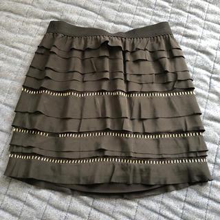 ビーシービージーマックスアズリア(BCBGMAXAZRIA)のシルク100% 黒スカート(ミニスカート)