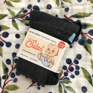 コドモビームス(こどもビームス)の新品未使用 silly silas footless チャコールグレー 6-12(パンツ)