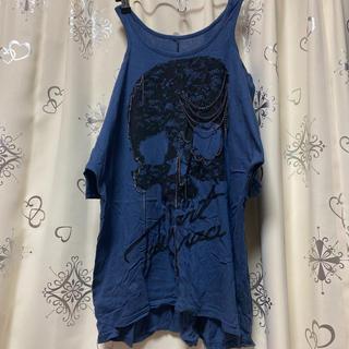 レースドクロチェーン肩あきTシャツ(Tシャツ(半袖/袖なし))