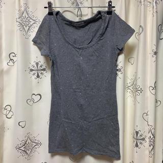 シマムラ(しまむら)のビジューTシャツ(Tシャツ(半袖/袖なし))