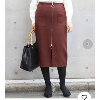 ノーブル(Noble)のNOBLE フープジップタイトスカート(ロングスカート)